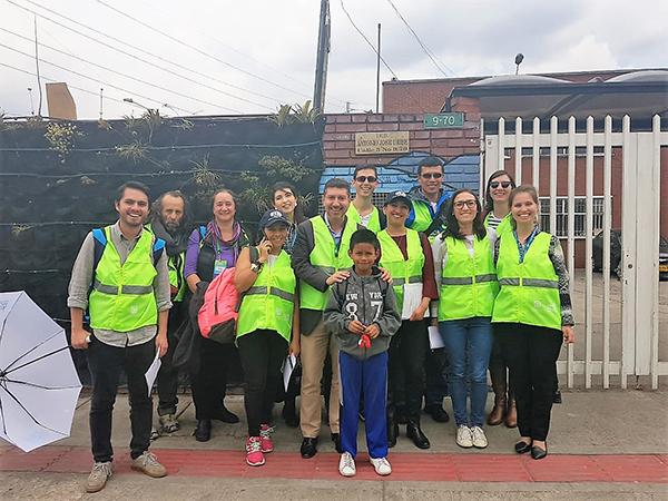 Star Rating for Schools app demonstrated at a 'Walkshop' at Walk21 Bogota 2018