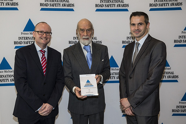 Star Rating for Schools wins prestigious Prince Michael International Road Safety Award