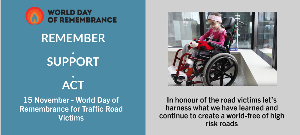 World Day of Remembrance 2020: Remember – Support – ACT for 3-star or better roads