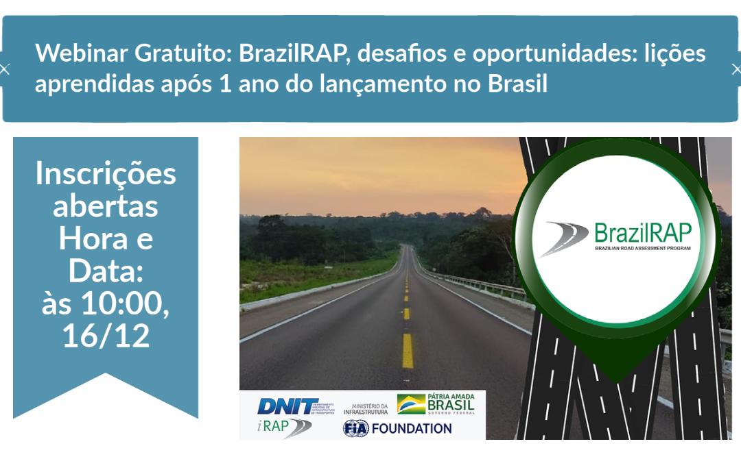 Inscrições abertas – BrazilRAP, desafios e oportunidades: lições aprendidas após 1 ano do lançamento no Brasil