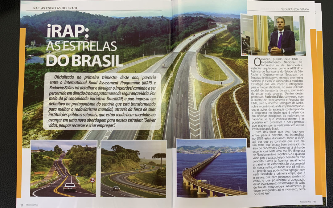 "Rodovias & Vias Magazine promotes BrazilRAP success – ""iRAP, the Brazilian Stars"""