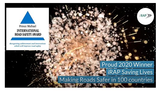 iRAP receives Prince Michael Award for work saving lives in 100 countries