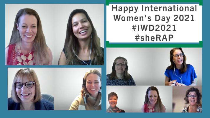 Празднование Международного женского дня 2021 года - Обеспечение равного будущего в мире COVID-19